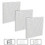 4' X 4' Gridwall Panels | Black, White or Chrome