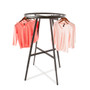 """Round Clothes Rack with 36"""" (Dia) Display Rail   BLACK"""