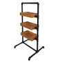 Pipeline Rack with Three Display Trays - Matte Black