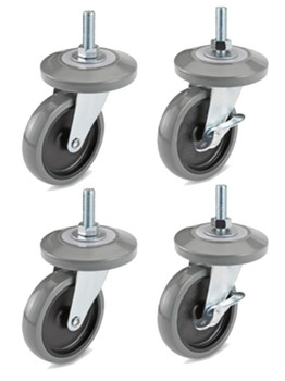 Z Rack Repalcment Casters Product Display Solutions