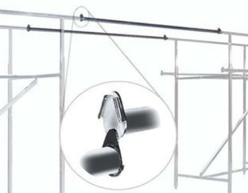 Extension Rail For Double Rail H Rack Product Display