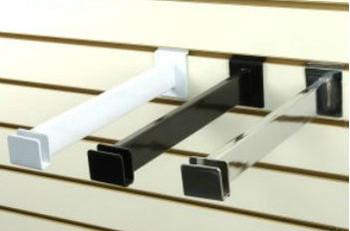 12 Quot L Slatwall Hangrail Bracket For Rectangular Tubing