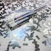Silver confetti cannon for sparkling anniversary celebrations