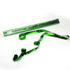 Green Metallic Streamers - 25mm x 7m - sleeve of 40