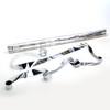 Silver Metallic Streamers - 25mm x 7m - sleeve of 40