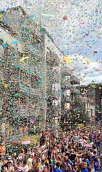 PRIDE 2021 Rainbow Confetti Cannons