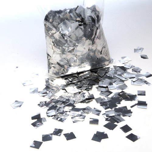 Silver Metallic Confetti - 17mm x 17mm - 1kg bag