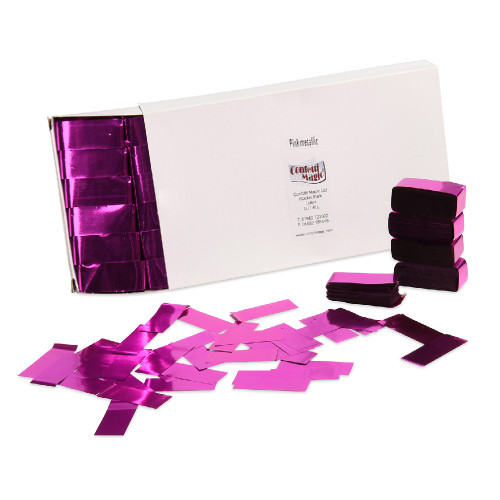 Pink Metallic Confetti - 2cm x 5cm - 1kg box