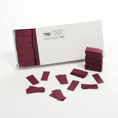 Burgundy Tissue Confetti - 1/2kg box