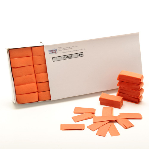 Orange Tissue Confetti - 1/2kg box