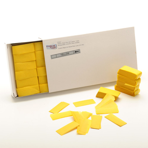 Yellow Tissue Confetti - 1/2kg box