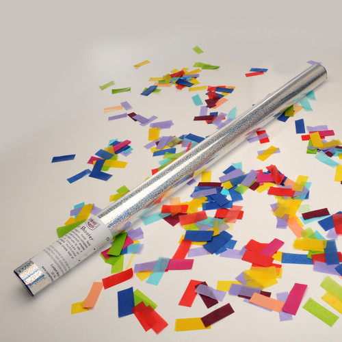 Large Confetti Cannon - Multicolour Tissue