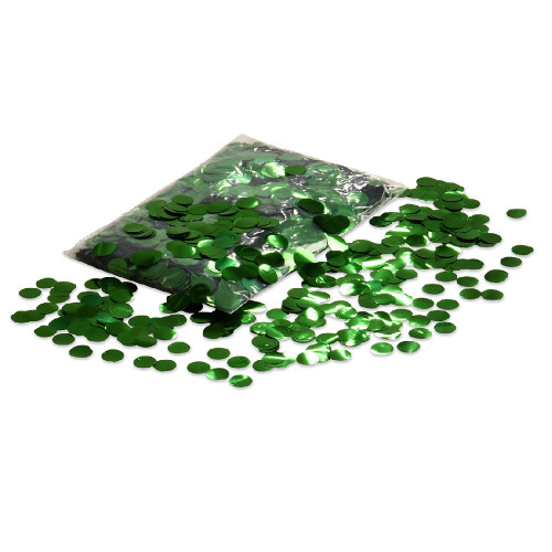 Balloon Confetti - Green Metallic Confetti - 2cm circles - 1/2kg bag