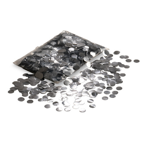 Balloon Confetti - Silver - 2cm Round - 1/2kg bag