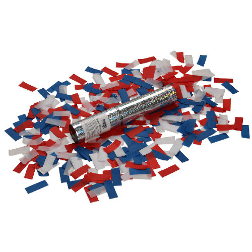 Small Confetti Cannon - Red, White and Blue Tissue