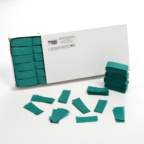 Teal Tissue Confetti - 1/2kg box