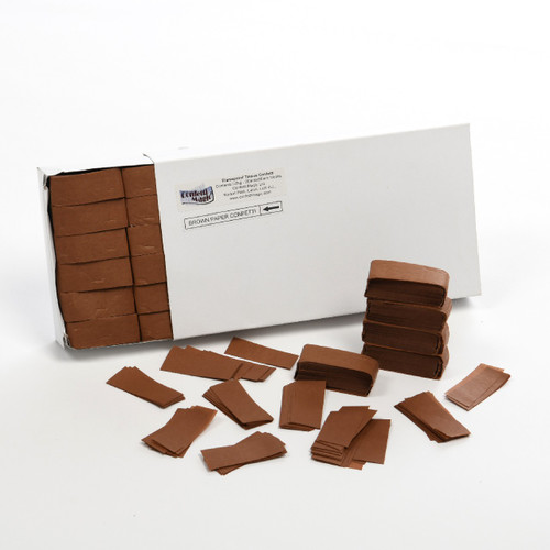 Brown Tissue Confetti - 1/2kg box
