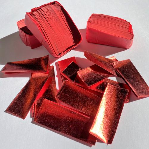 Biodegradable Red Metallic Confetti