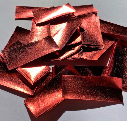 Biodegradable Red Metallic Confetti - 1kg bag