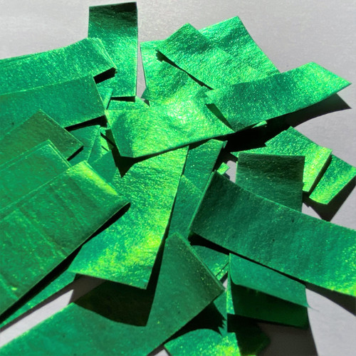 Biodegradable Green Metallic Confetti - 1kg bag