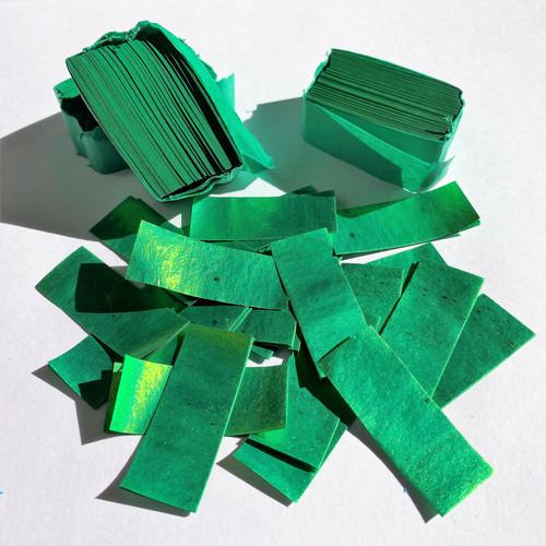 Biodegradable Green Metallic Confetti