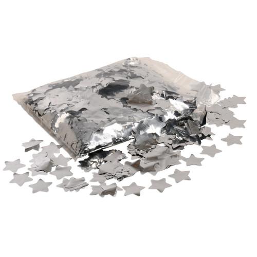 Silver Metallic Star Confetti - 1kg bag
