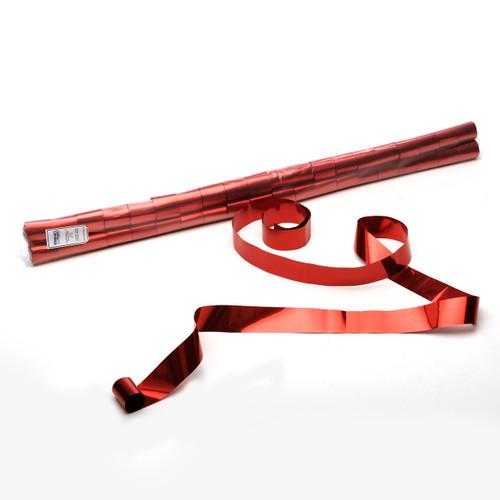 Red Metallic Streamers - sleeve of 40