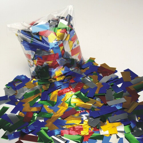 Multicolour Metallic Confetti - 2cm x 5cm - 1kg bag