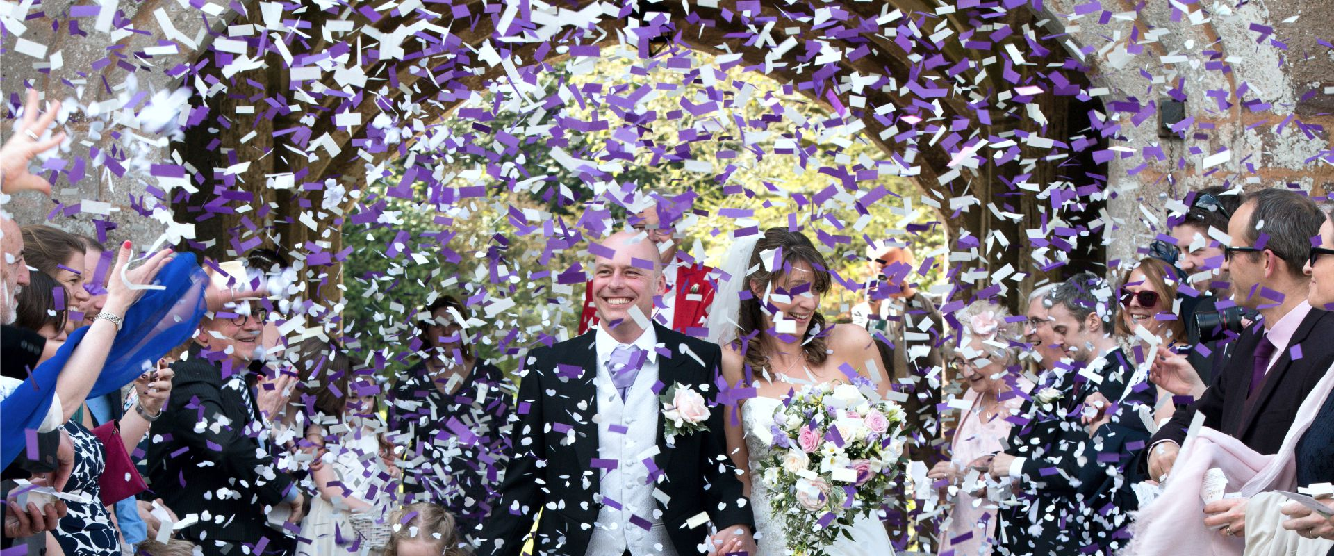 There are numerous opportunities during the big day for our wedding confetti cannons to add a touch of magic - and most importantly, we will custom load them for you with your own personal mix of colours to match your colour scheme perfectly
