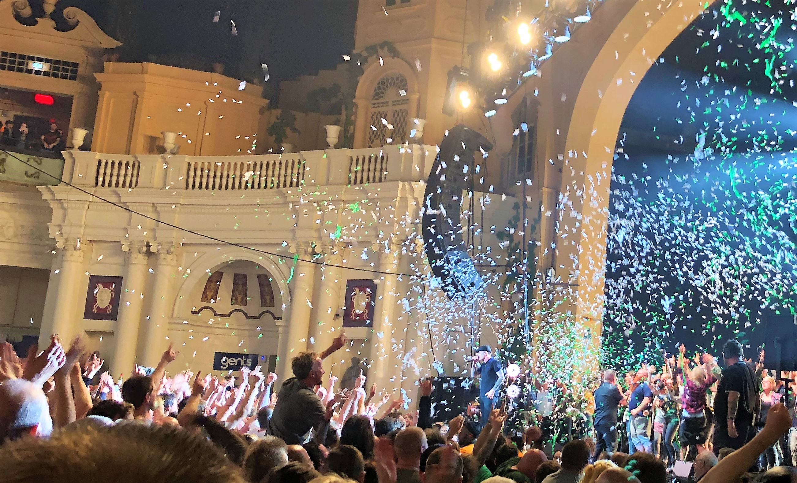 Hand held confetti cannons on tour with Dropkick Murphy's