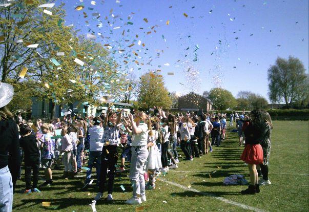 School Celebrates 50th Anniversary With Confetti Cannons