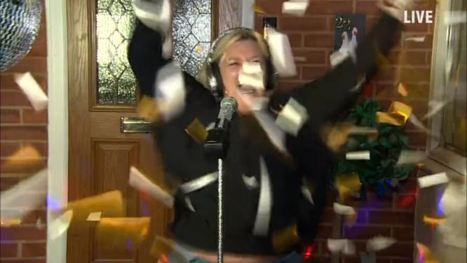 Sing Along Live Winner Celebrates With BioGlitter Confetti Cannon