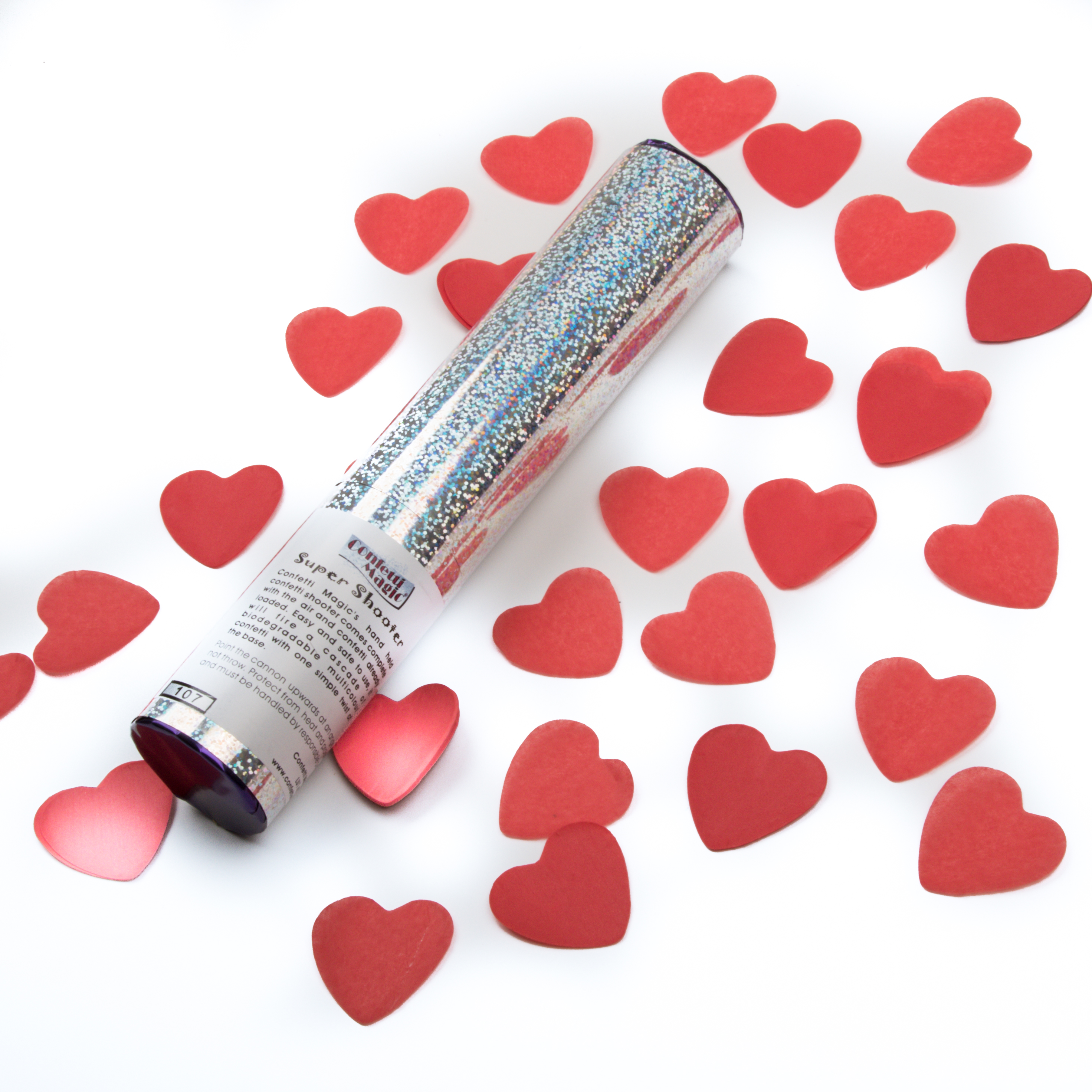 Valentine's Day Heart Confetti Cannons