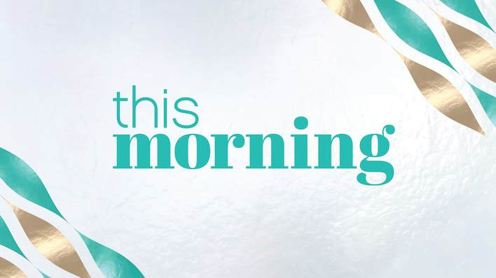 This Morning Celebrate Win with Teal and Gold Confetti