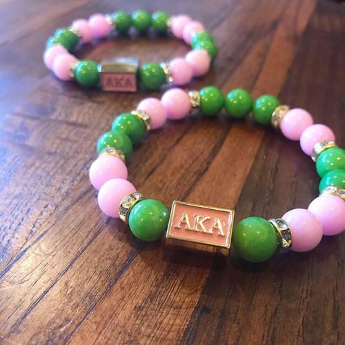 Pink & green elle Bracelet