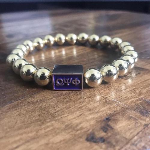 """Omega Psi Phi Bracelet """"Old Gold"""" Bracelet"""