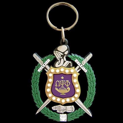 Omega Psi Phi PVC Keychain