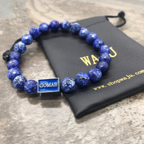 "Phi Beta Sigma ""GOMAB"" faceted Agate Bracelet"