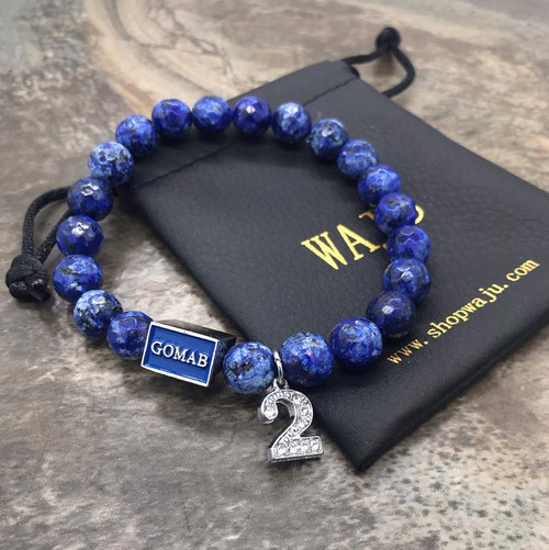 "Phi Beta Sigma ""GOMAB"" faceted Soladite Bracelet with Line Number"