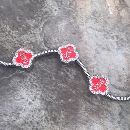 Delta Sigma Theta Clover European bead