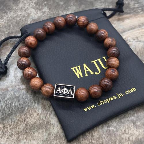 Alpha Phi Alpha Wood Bracelet