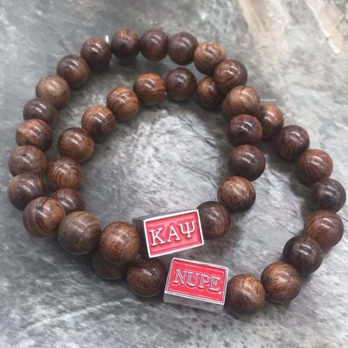 Kappa Alpha Psi 1911 Wood Bracelet