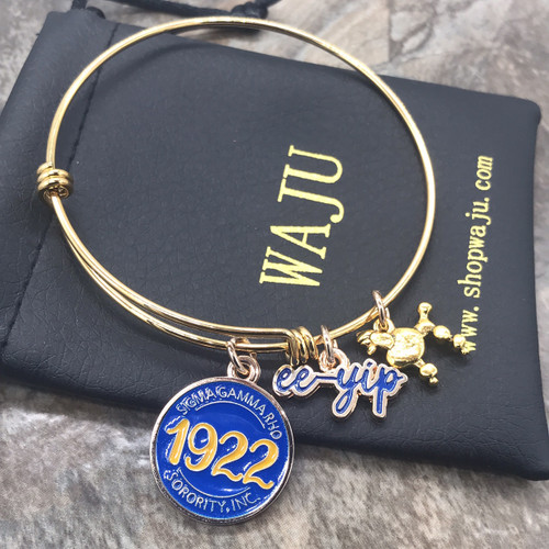 "Sigma Gamma Rho ""Golden"" expandable bangle"