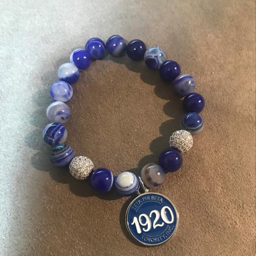 Zeta Phi Beta 1920 circle bracelet