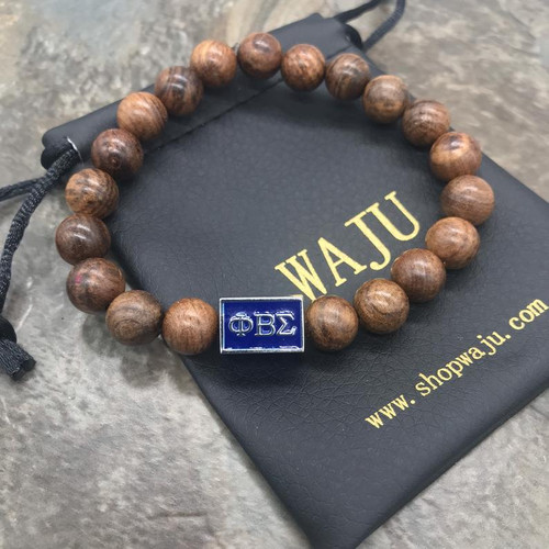Phi Beta Sigma wood bracelet