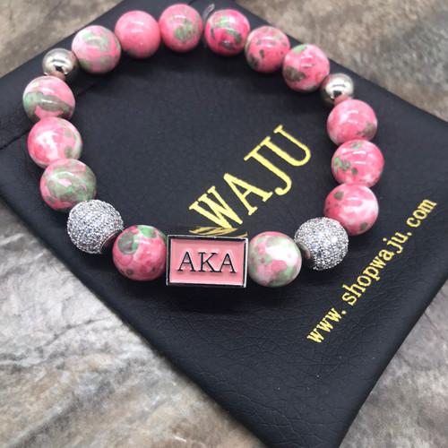"""Pink & green """"Zoe"""" Bracelet"""