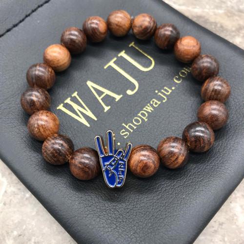 Sigma Gamma Rho Hand sign Wood  Bracelet
