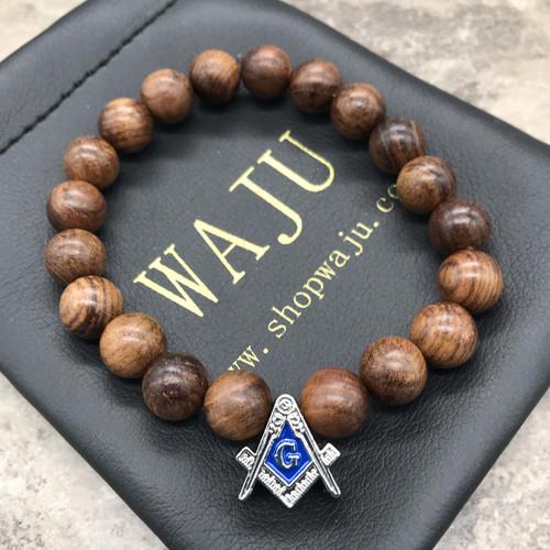 Mason Wood Bracelet  - Vertical Bead