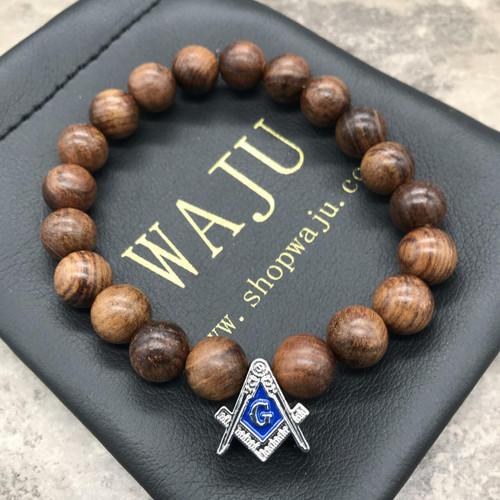 Mason Wood Bracelet  - Horizontal Bead