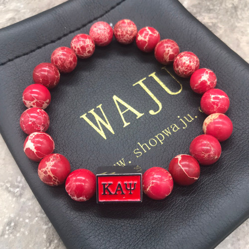 Kappa Alpha Psi  Nupe Sea Jasper bracelet